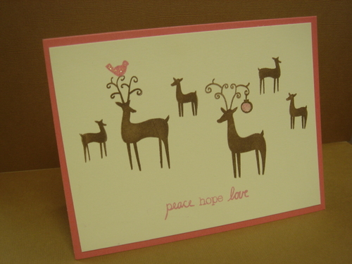 Peace Hope Love Deer