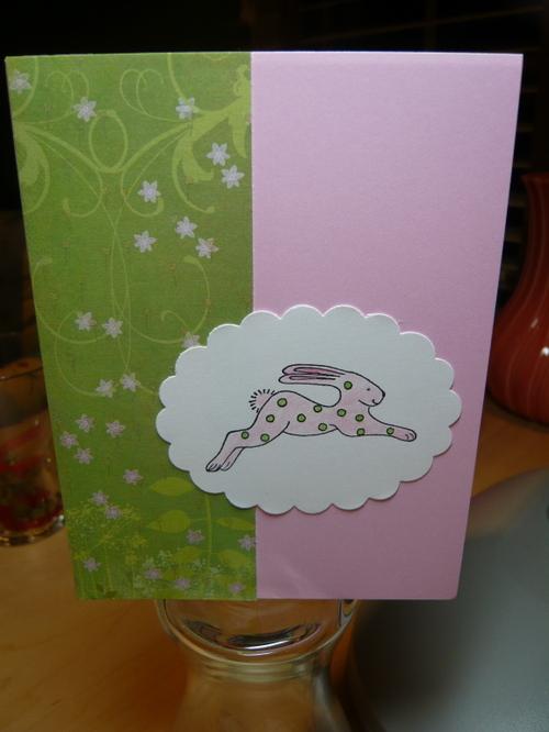 Pink & Green Dottie Bunny