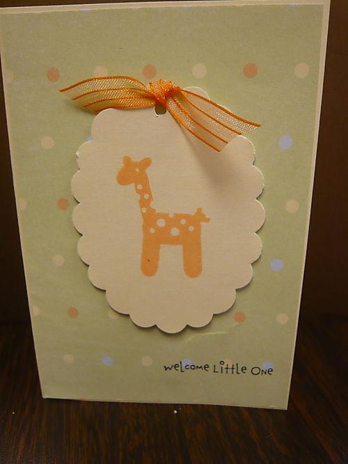 Welcome Little One Giraffe